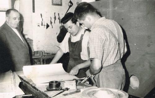 Paulino en el taller