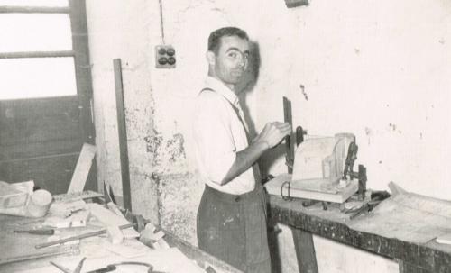 Trabajadores en el taller: Urkizar