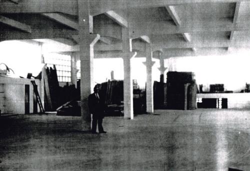 Construcción de la nueva nave en Donosti Etorbidea- 6, 1960