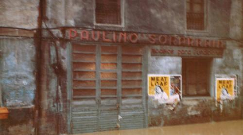 Fachada con rótulo Paulino Sorarrain, 1983