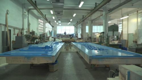 Vista del interior del taller en la actualidad