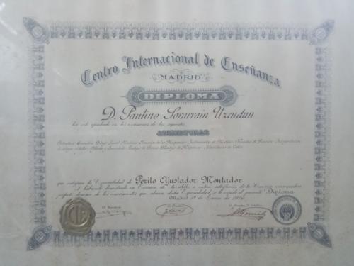 Diploma Paulino Sorarrain