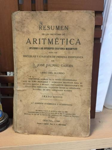 Libro aritmetica